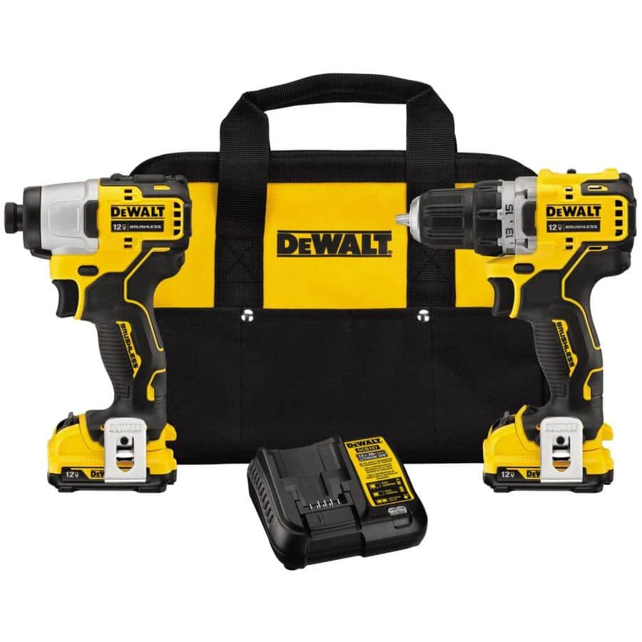 DEWALT XTREME 12-Volt Max - 3 Brushless Tools, 2 batteries, charger and case  for $199 - Subcompact Drill, Impact Driver + Reciprocating Saw