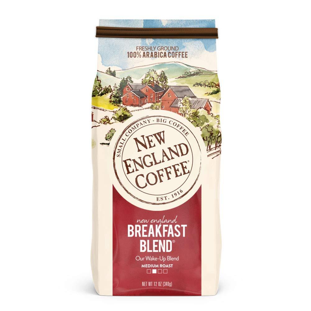 New England Coffee New England Donut Shop Blend, Light Roast Ground Coffee, 11 Ounce Bag S&S $3.26