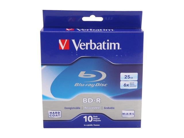 Verbatim 25GB 6X BD-R 10 Packs Spindle Disc x5 FREE AC