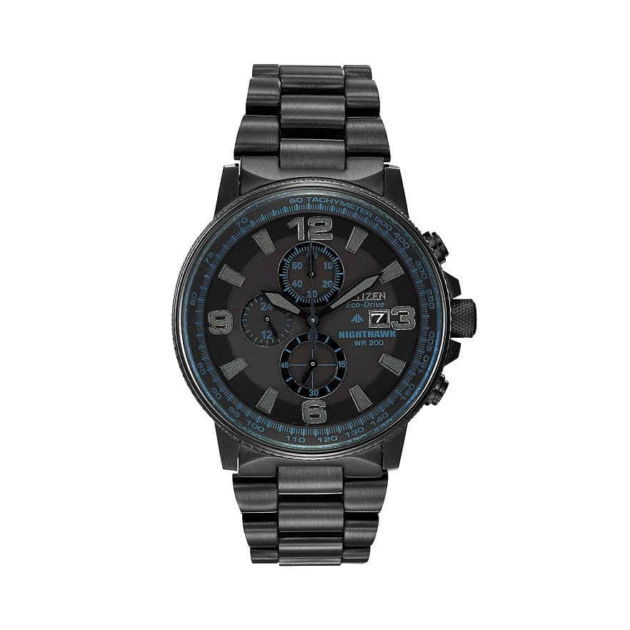 citizen eco drive s nighthawk stainless steel