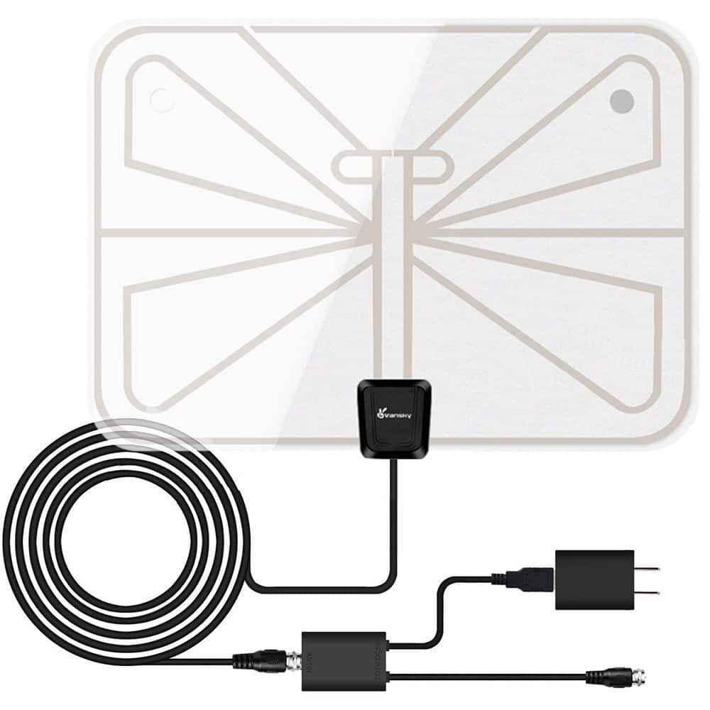 ac home wiring antenna digital vansky 50-mile amplified indoor hdtv antenna w/ 16.5' coaxial cable - slickdeals.net ac home wiring diagram