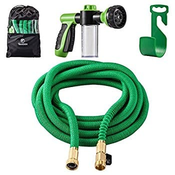 50 Feet Expanding Garden Water Hose with 8 Way Spray Nozzle,Dish ...