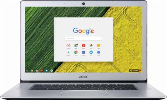 "Acer - 15.6"" Touch-Screen Chromebook - Intel Pentium - 4GB Memory - 32GB eMMC Flash Memory - Pure silver $299 with free Google home"