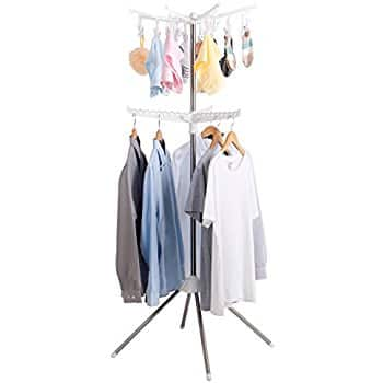 Collapsible Clothes Drying Rack Portable 2-Tier Clothes Dryer for Hanging Laundry - $19.99 - Free Prime shipping