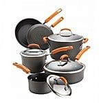 Rachael Ray 10-pc. Nonstick Hard-Anodized Cookware Set $85, 1/2 off AC, AR, after Kohl's Cash