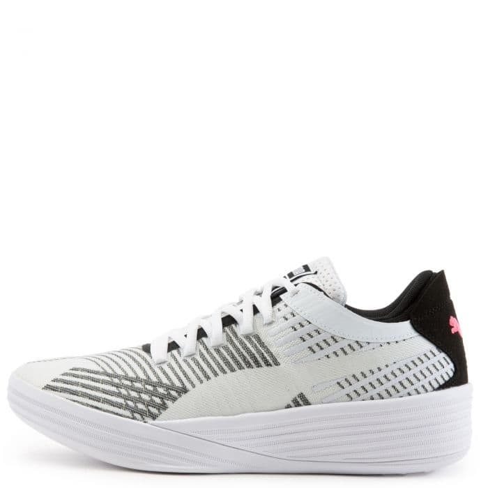 Puma Clyde All-Pro $89.99 White/Black Basketball Shoes - $89.99