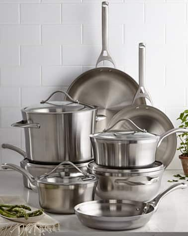 Calphalon Contemporary Stainless Steel 13-Pc. Cookware Set + extras $263.99 plus tax or as low as $197.99