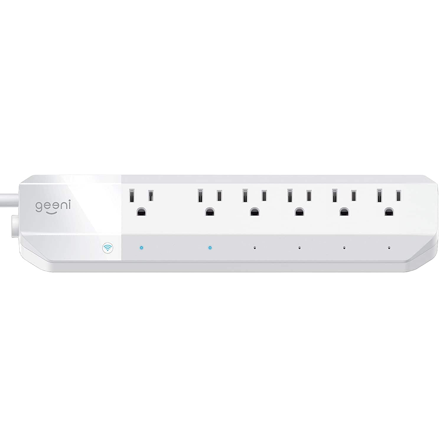 Geeni 4-Outlet + 2 USB, 6-Outlet Smart Surge Protector Power Strip No Hub Wireless Remote Control and Timer $18.79
