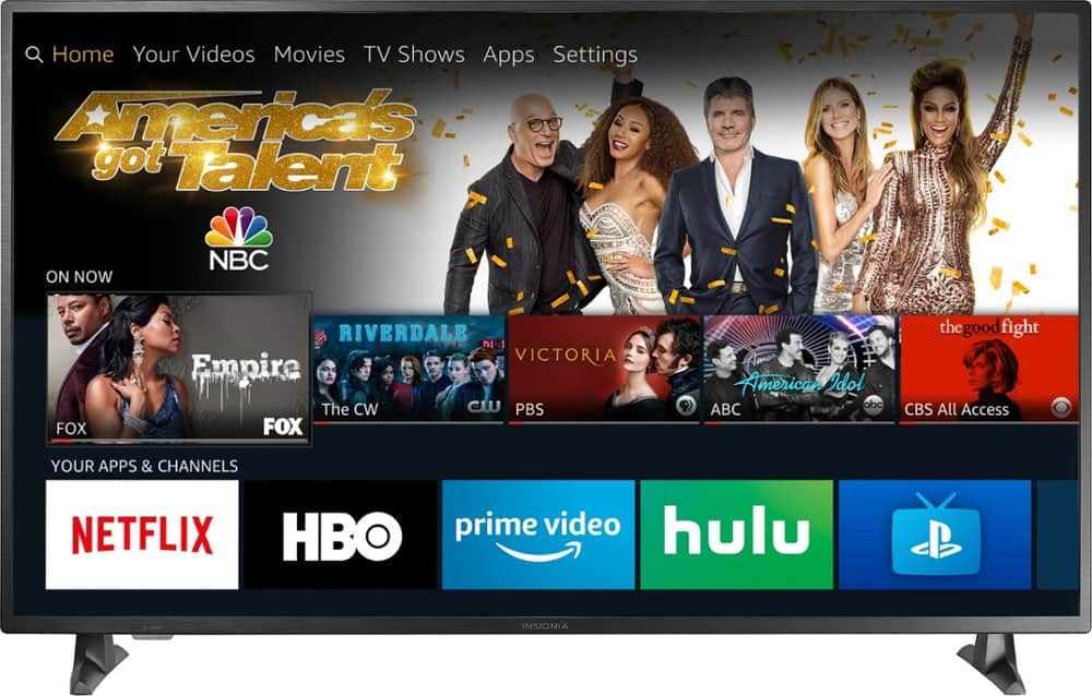 "Insignia™ 55"" Class – LED 2160p – Smart 4K UHD TV with HDR – Fire TV Edition NS-55DF710NA19 + Free Amazon Echo Dot + FS @ Best Buy $299.99"