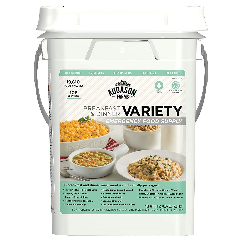 Augason Farms Variety Emergency Food Supply Pail $38.95