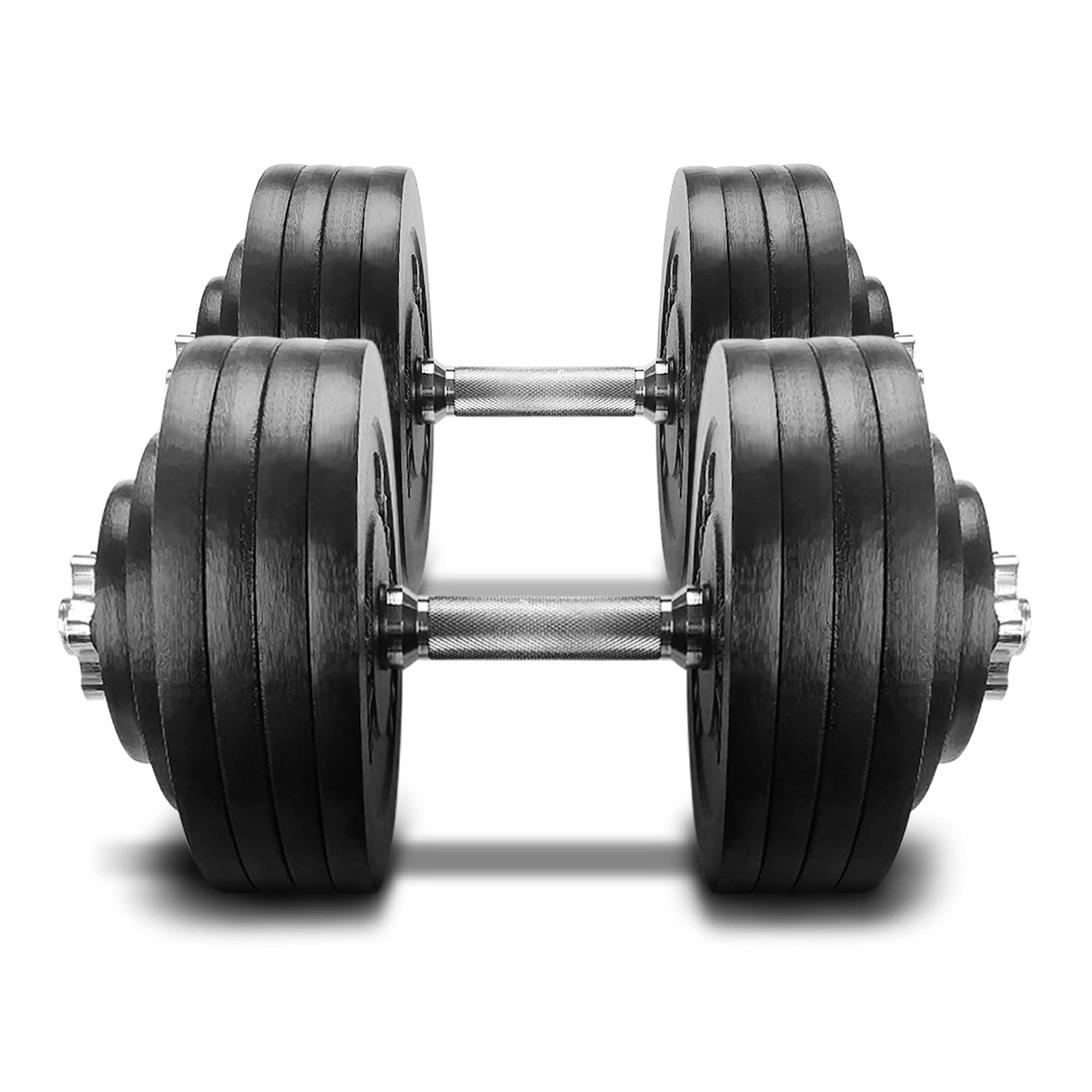 Yes4All 200 lb Adjustable Dumbbell Weight Set - Cast Iron Dumbbell ...