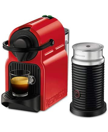 Nespresso Inissia Red + Milk Frother Bundle $99.99