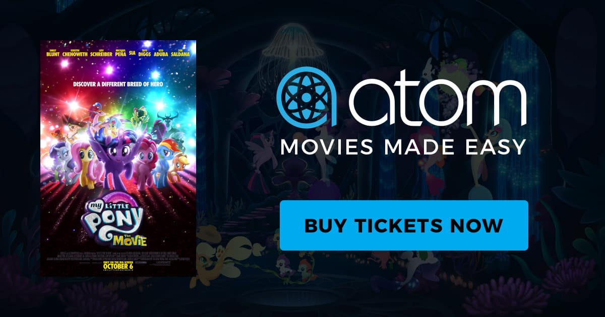 BOGO My Little Pony Movie Ticket from Atom Tickets