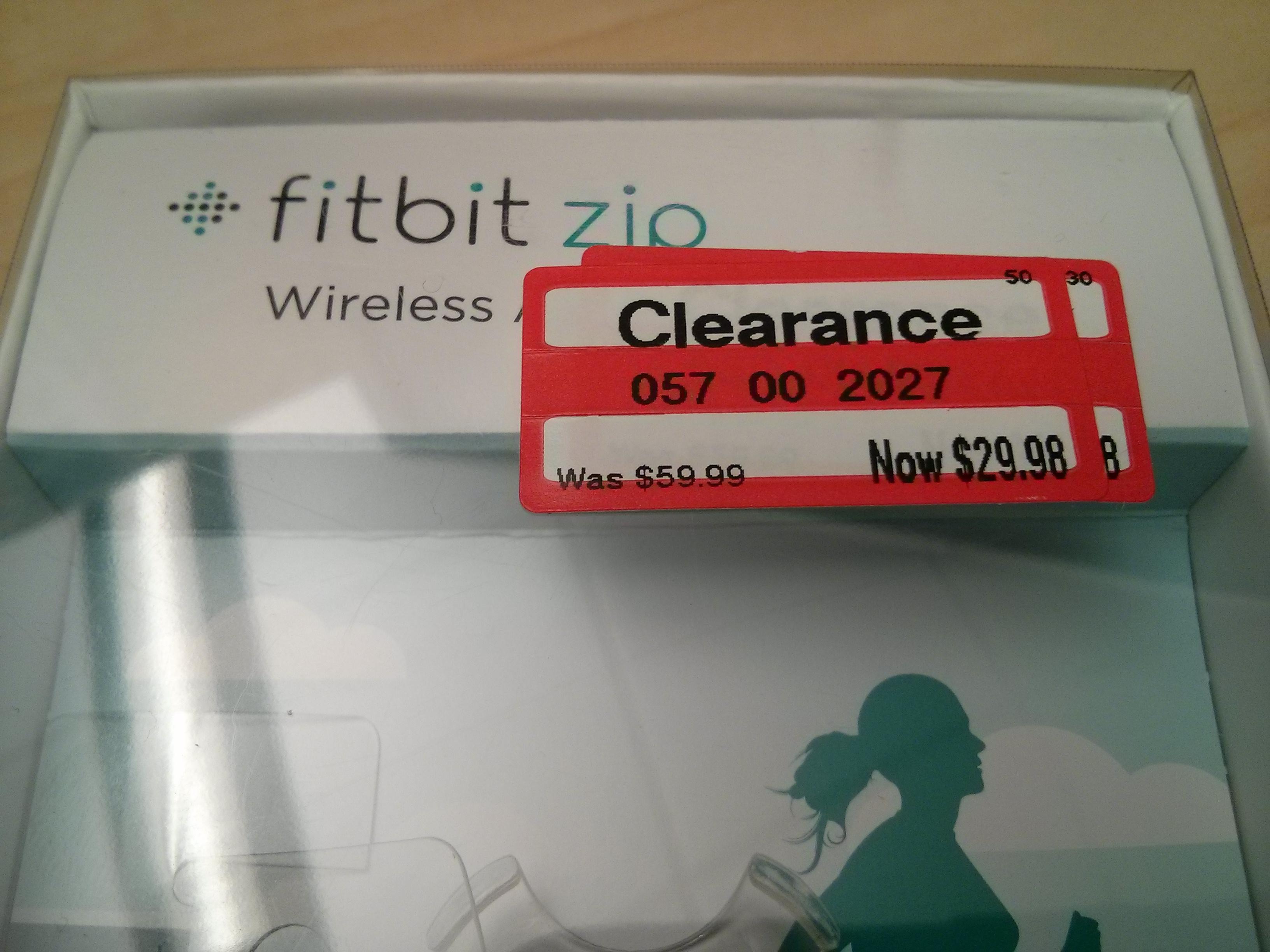 Fitbit Zip $29.98 Target clearance YMMV