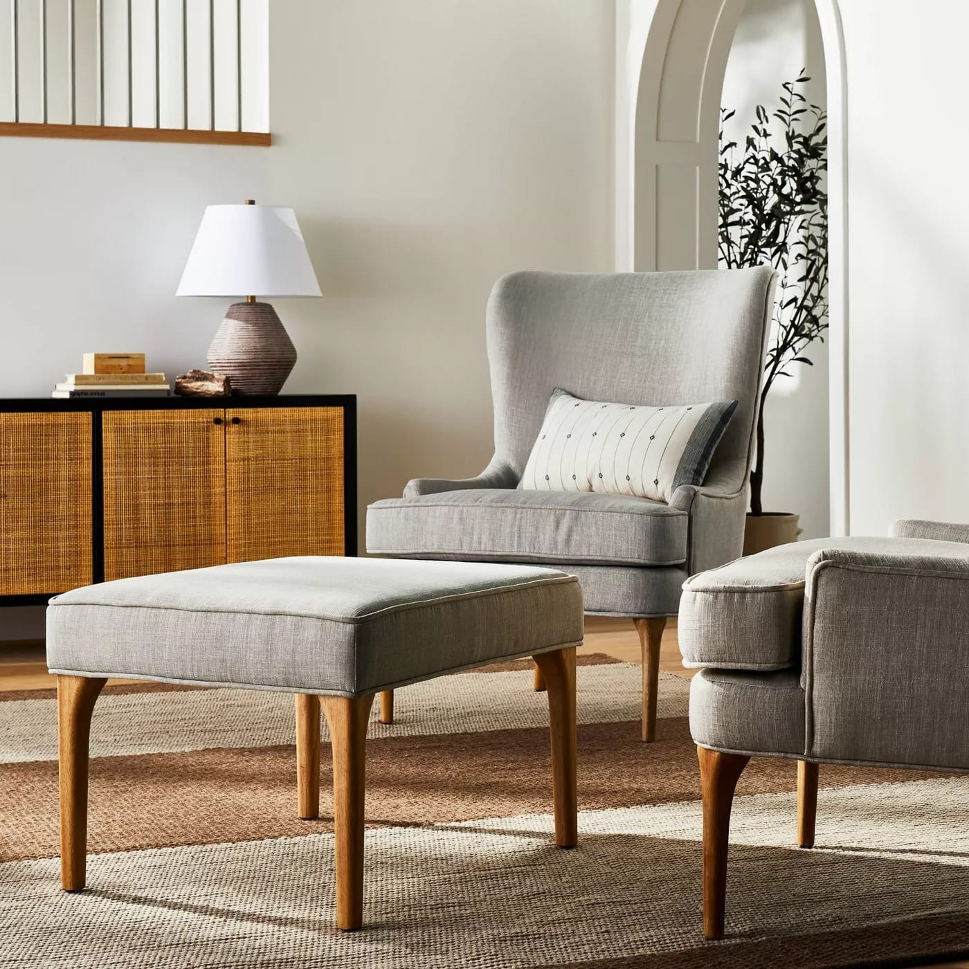 Threshold Cheswold Ottoman $49.50, Wingback Chair $165 Or Less w/ Target Circle + 2.5% Slickdeals Cashback (PC Req'd) + Free S/H
