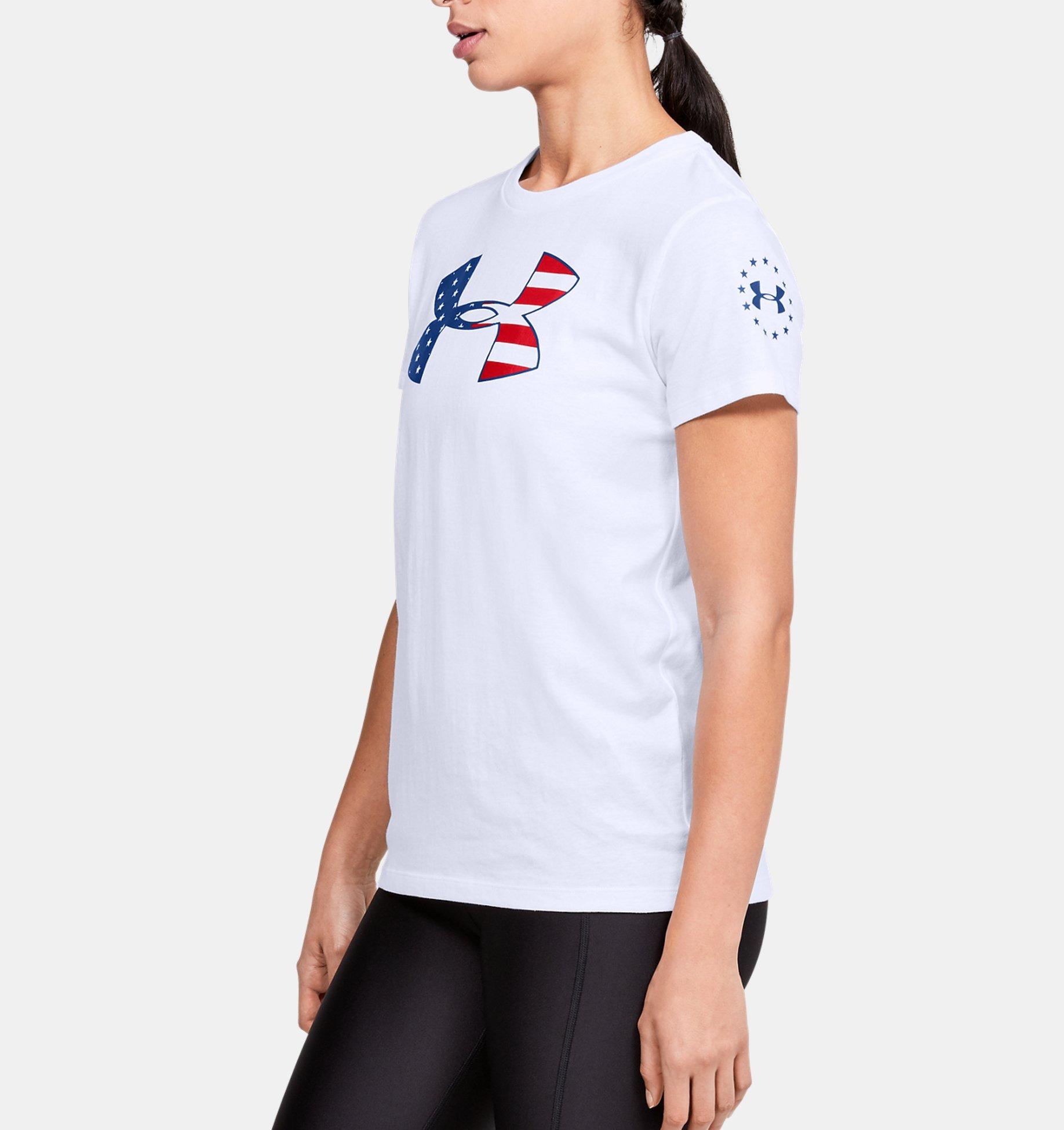 Women's Under Armour Freedom Stars & Stripes T-Shirt (White / Royal) $10.99 + Free S/H