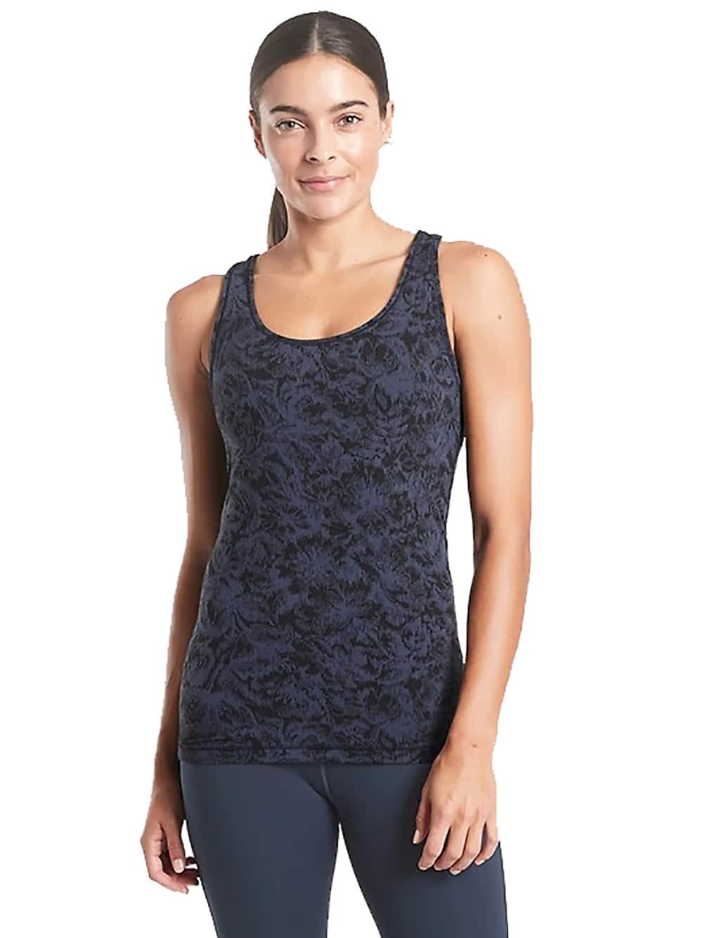 Athleta Up to 70% Off Styles thru 4/25 | Scoop Tank Texture $10, Jacquard Crew Sweater $24 & MORE + Free Pickup / FS for Select Silver, Luxe