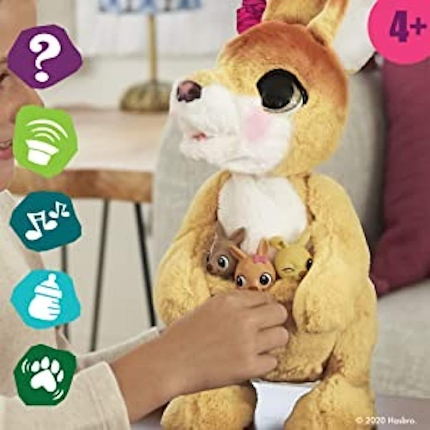 furReal Mama Josie The Kangaroo Interactive Pet Toy w/ 70+ Sounds & Reactions $19.74 + FS w/ Prime | $19.74 + 2.5% Slickdeals Cashback (PC Req'd) at Target + FS w/ RedCard