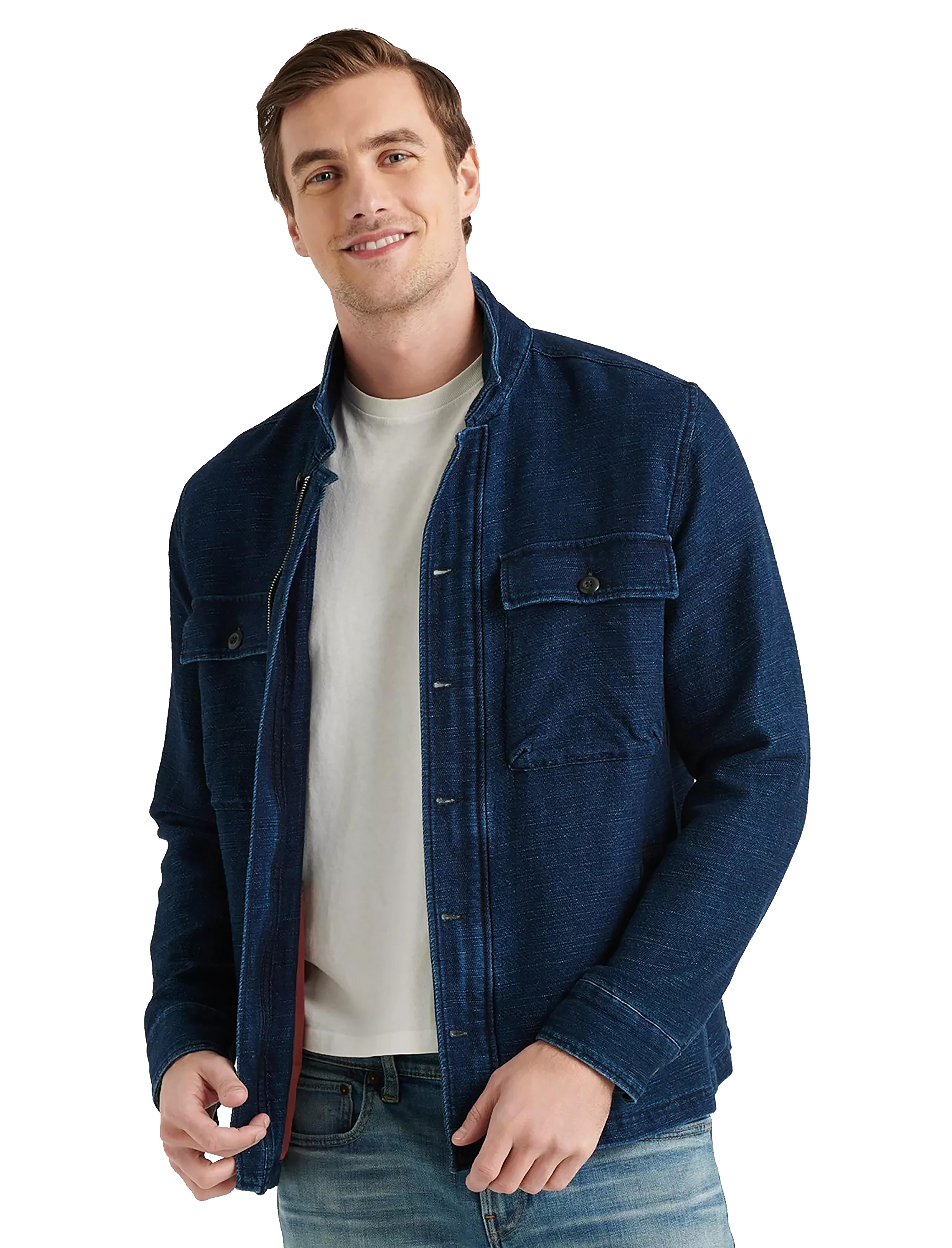 Men's Lucky Brand Jackets: Indigo Zip Denim $35, Chambray Cotton-Hemp M65 Utility Jacket $60, Sherpa Jacket $40 & MORE + Free S/H