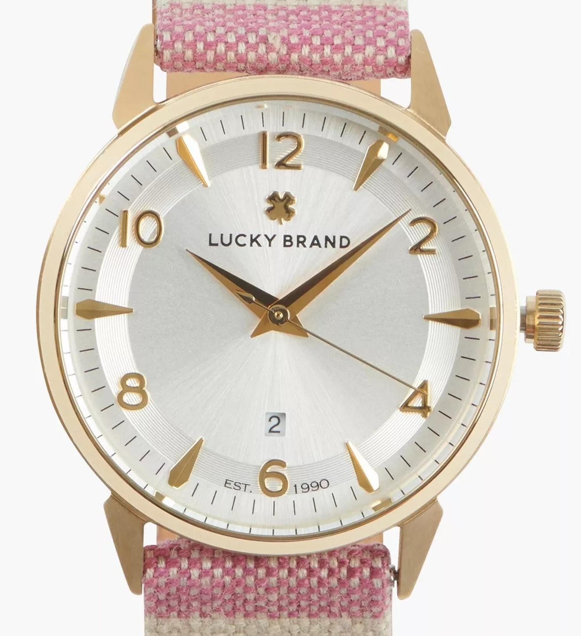 Lucky Brand: Women's Torrey Serape Stripe Watch $18 + Free S/H