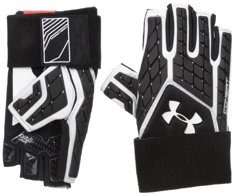Men's Under Armour Combat V Half-Finger Football Gloves (Small or Medium) $20 + Free S/H