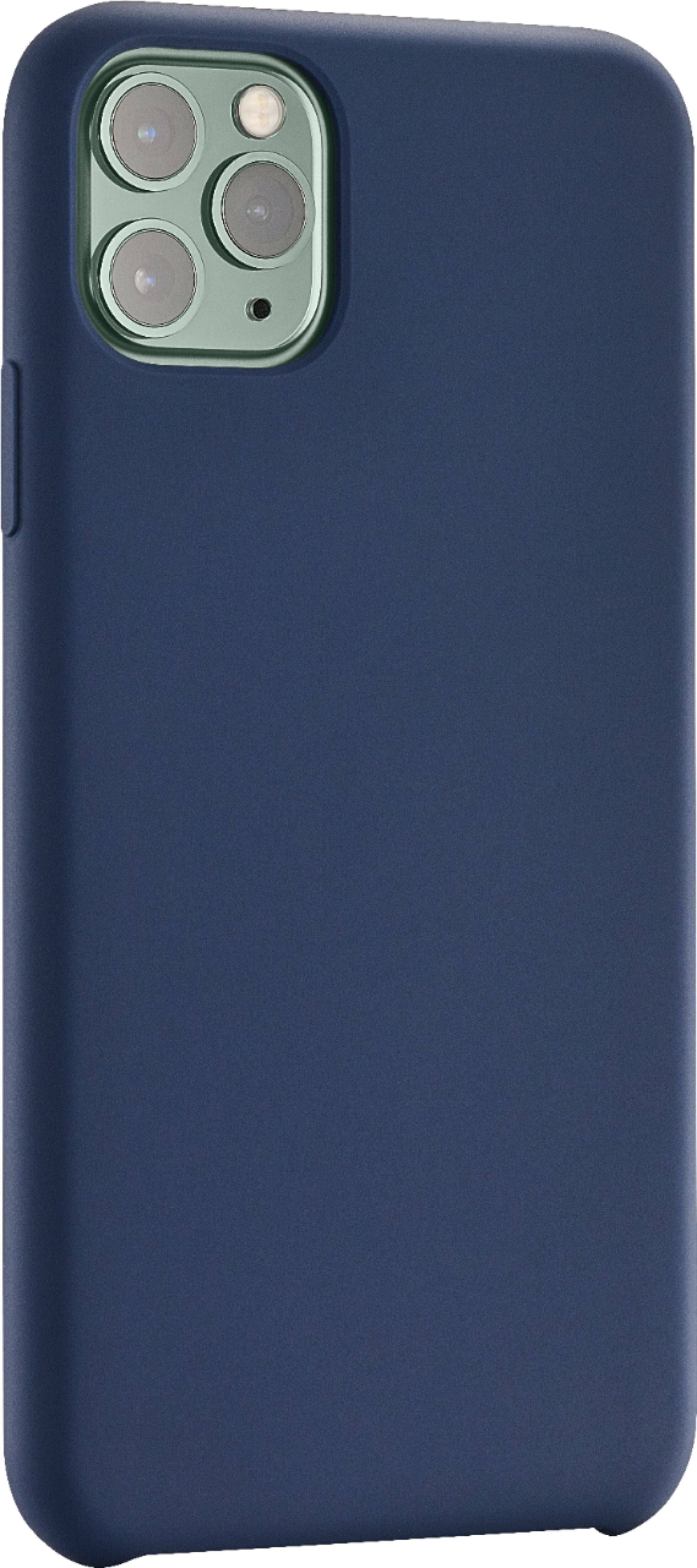 Insignia Silicone Hard Shell Case for Apple iPhone 11 Pro (Various) or 11 Pro Max (Midnight Navy or Aqua Blue) $3 + Free S/H