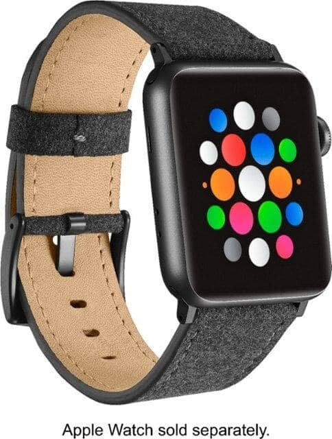 Platinum | Fabric Watch Strap for Apple Watch 42mm / 44mm (Dark Gray) $9.50 at Best Buy + Free S/H
