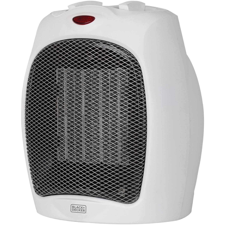 BLACK+DECKER Personal Desktop Ceramic 1500W Heater (White) $12.23 + FS w/ Prime or Walmart+