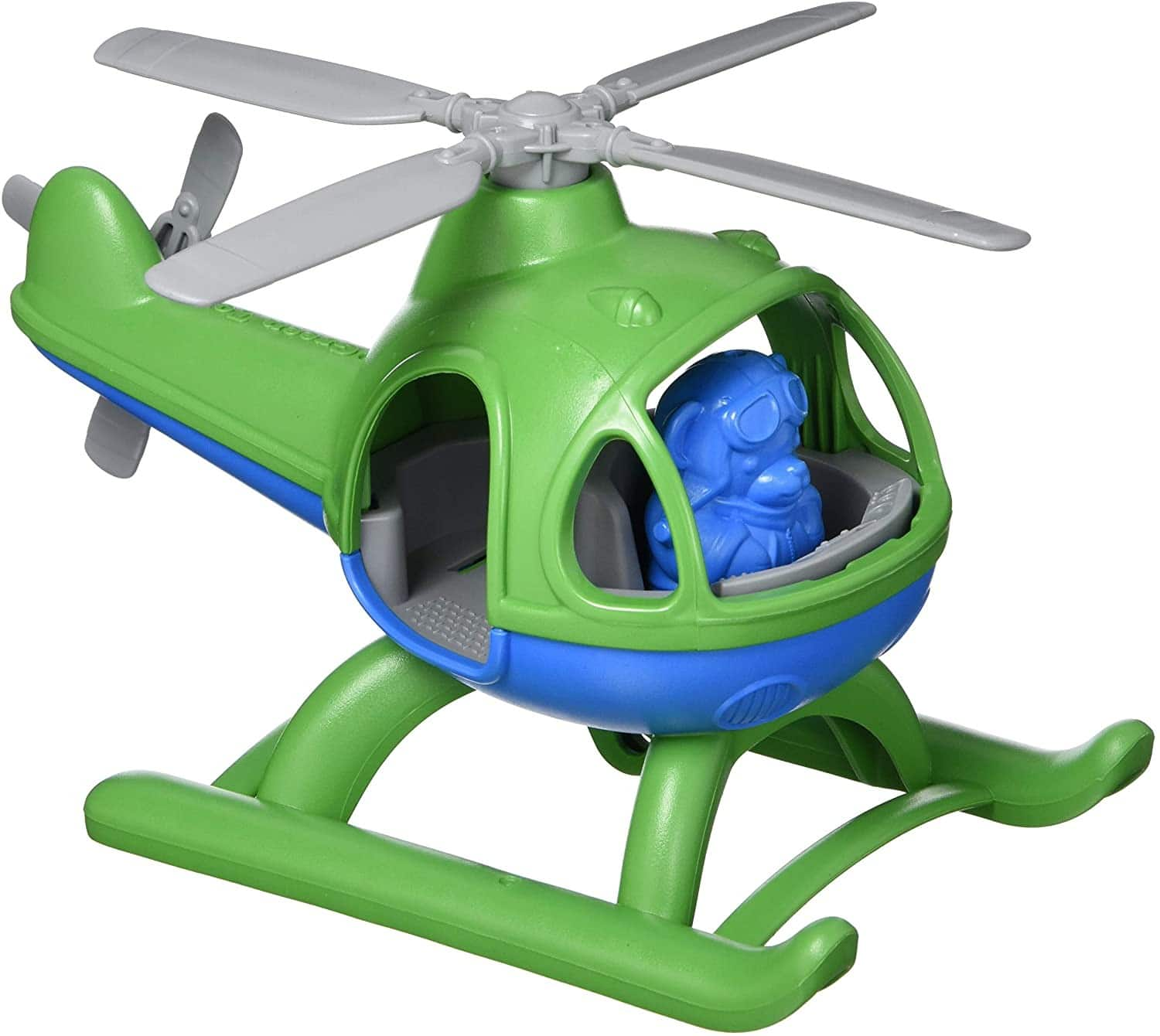 Green Toys Helicopter w/ Pilot Bear Figure $8.96 + FS w/ Prime or on orders of $25+