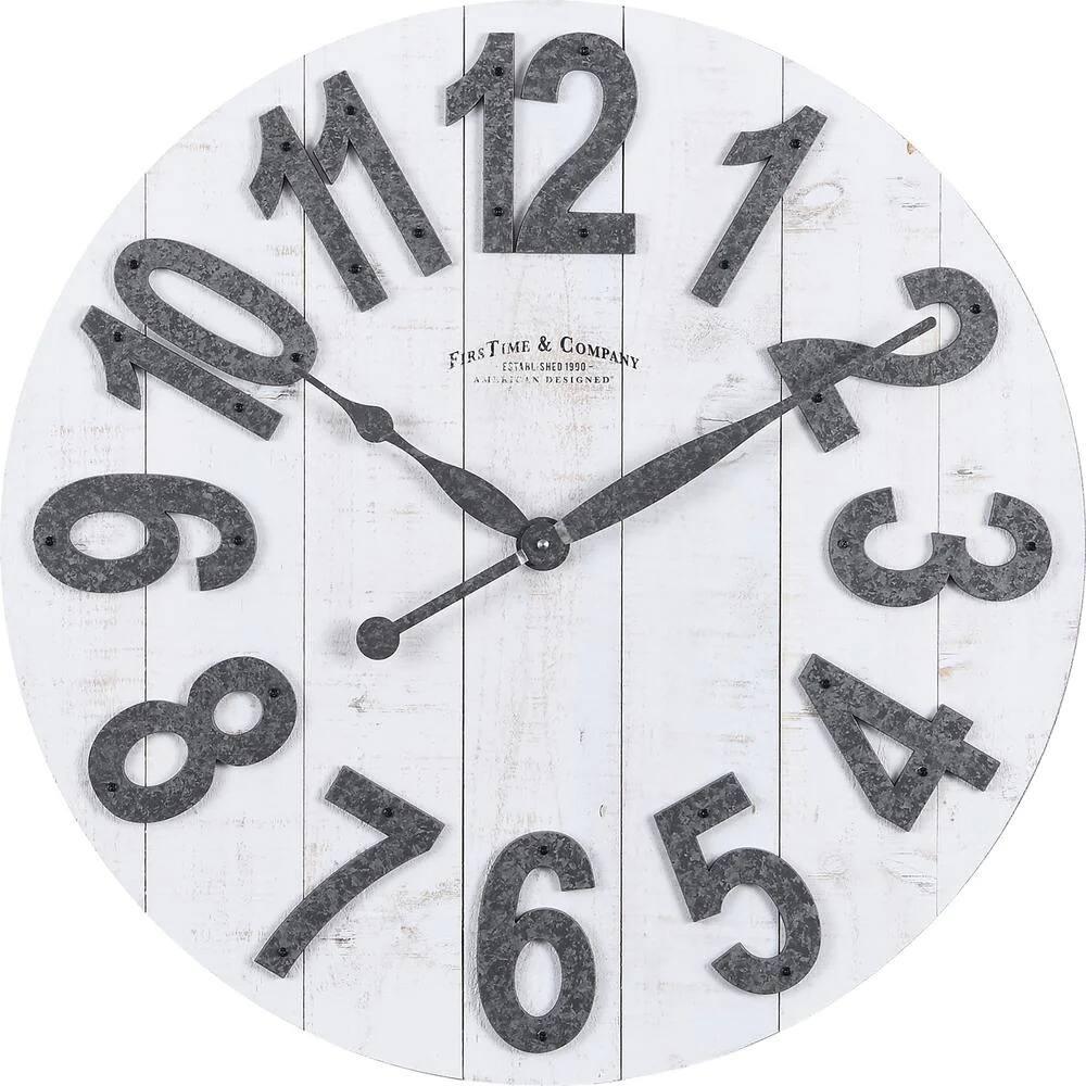 "FirsTime & Co. 22.5"" Josephine Wood Slat Farmhouse Clock (Aged White) $34.63 + FS on $45+"