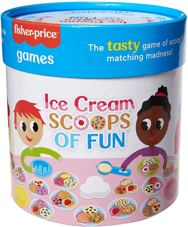 Fisher-Price Ice Cream Scoops of Fun Board Game $3.33 + FS w/ Walmart+ or on orders $35+