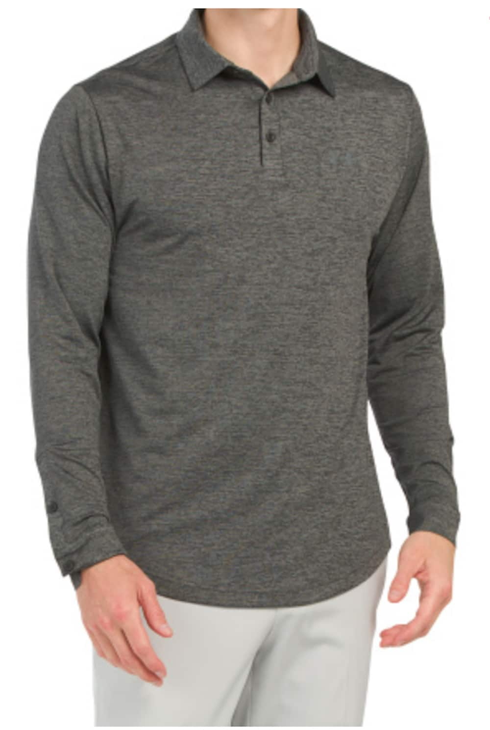 Under Armour Men's Long Sleeve Playoff 2.0 Golf Polo (Black) $22 + FS
