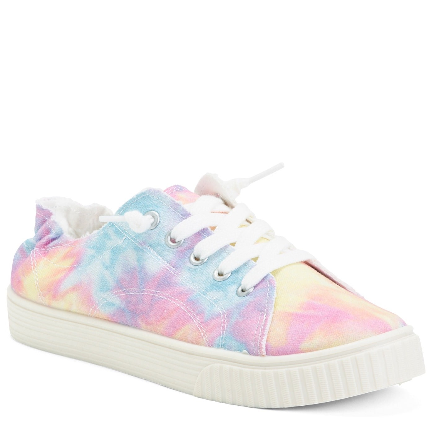 MADDEN GIRL Tie Dye Lace Up Easy Slip On Shoes $10 + FS