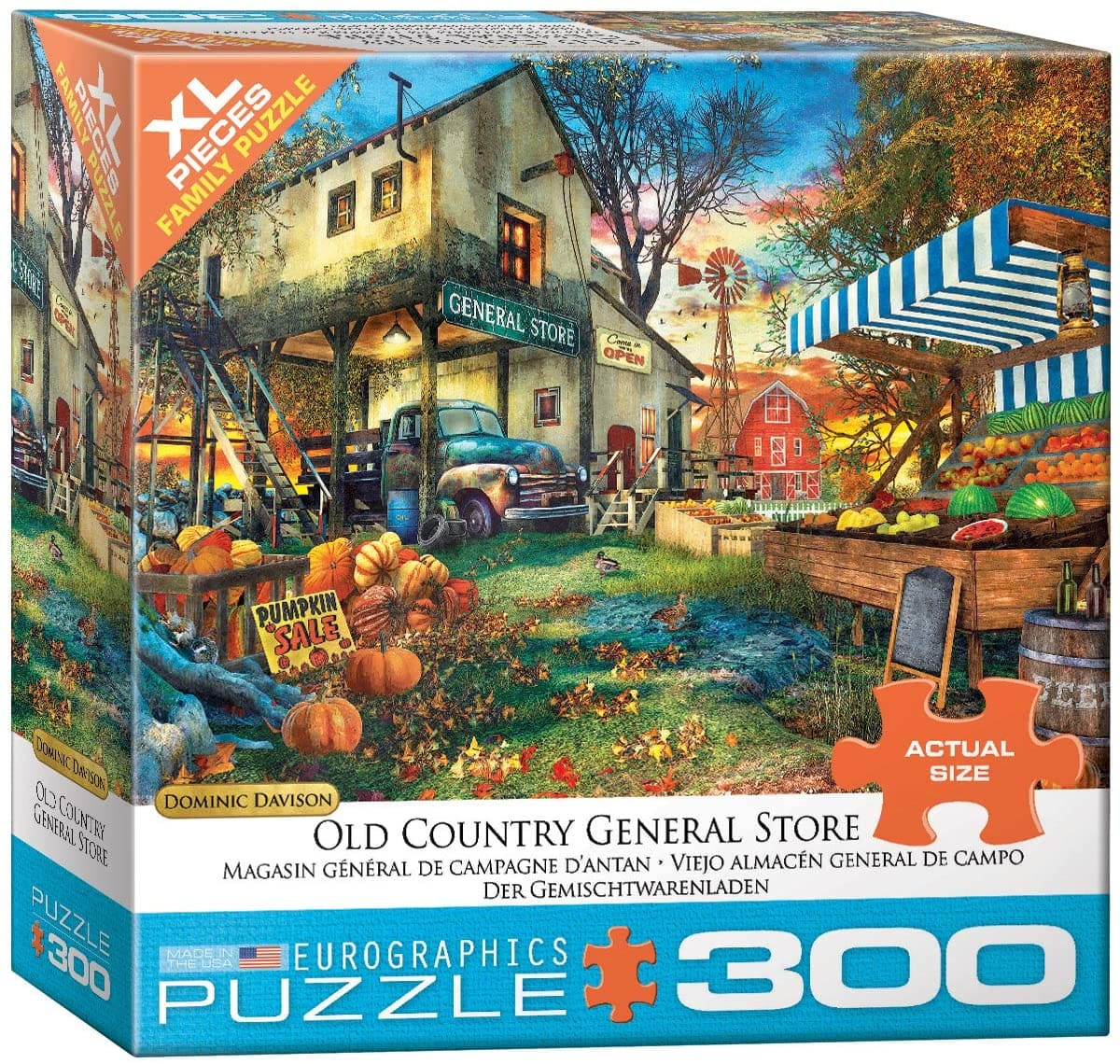 EuroGraphics 300-Piece Old Country General Store Puzzle $6.82 + FS w/ Prime or on orders of $25+
