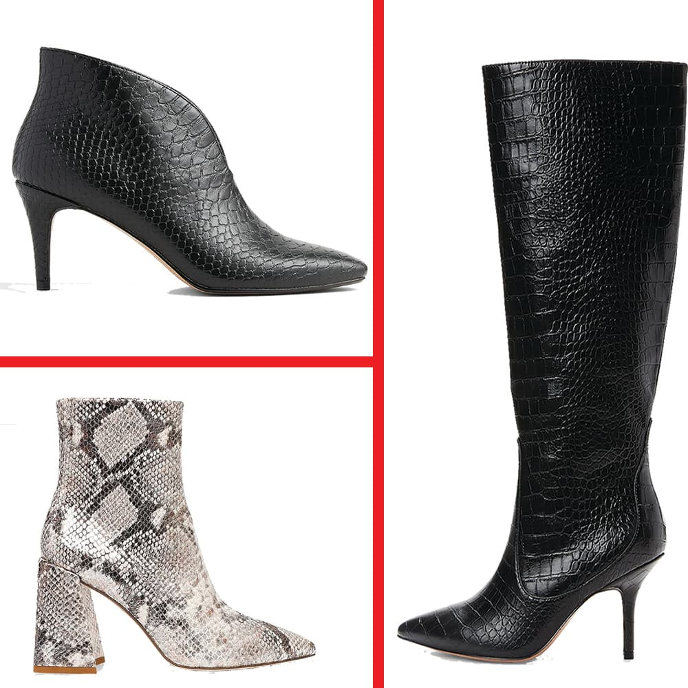 Express: Steve Madden Envied Booties $15, Women's  Satin Cowl Neck Gramercy Tee $10 & More + Free Store Pickup