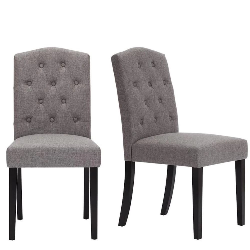 StyleWell 2-Ct Beckridge Tufted Dining Chairs $107.55, Finwick Metal Square Dining Table $79.50, 2-Ct Wood Saddle Backless Bar Stools (Chili Red) $44.50 or Less at Home Depot