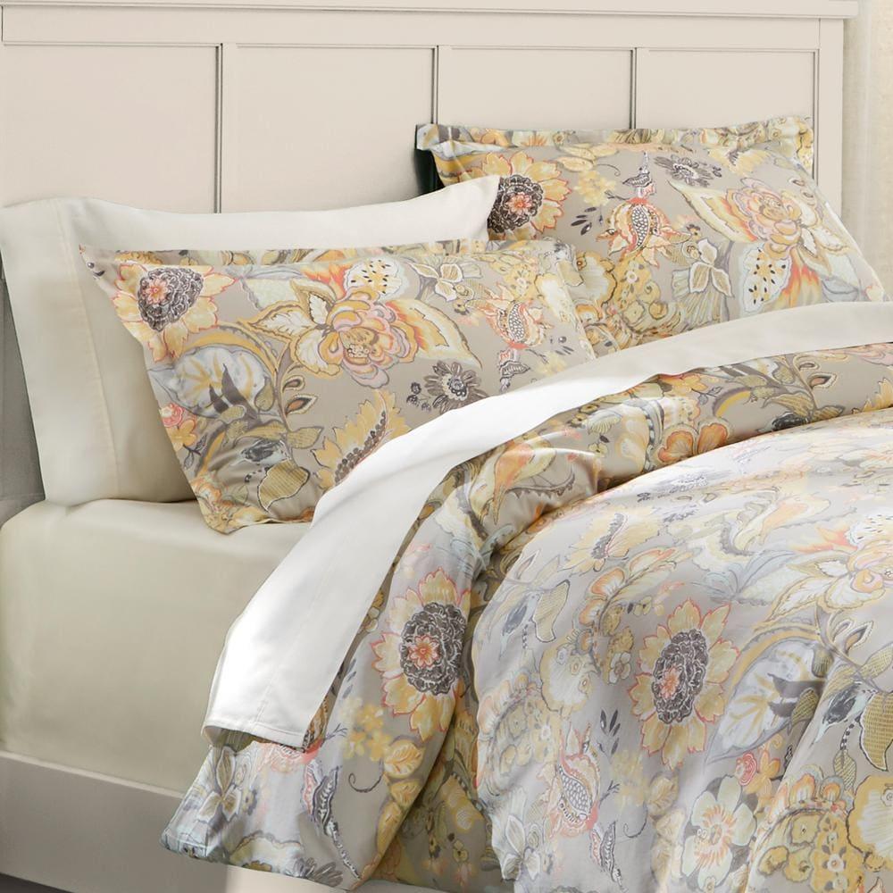 3-Piece Home Decorators 100% Cotton Duvet Cover Sets: Tadhurst 300TC Floral Reversible (Full/Queen) $32 + FS & More