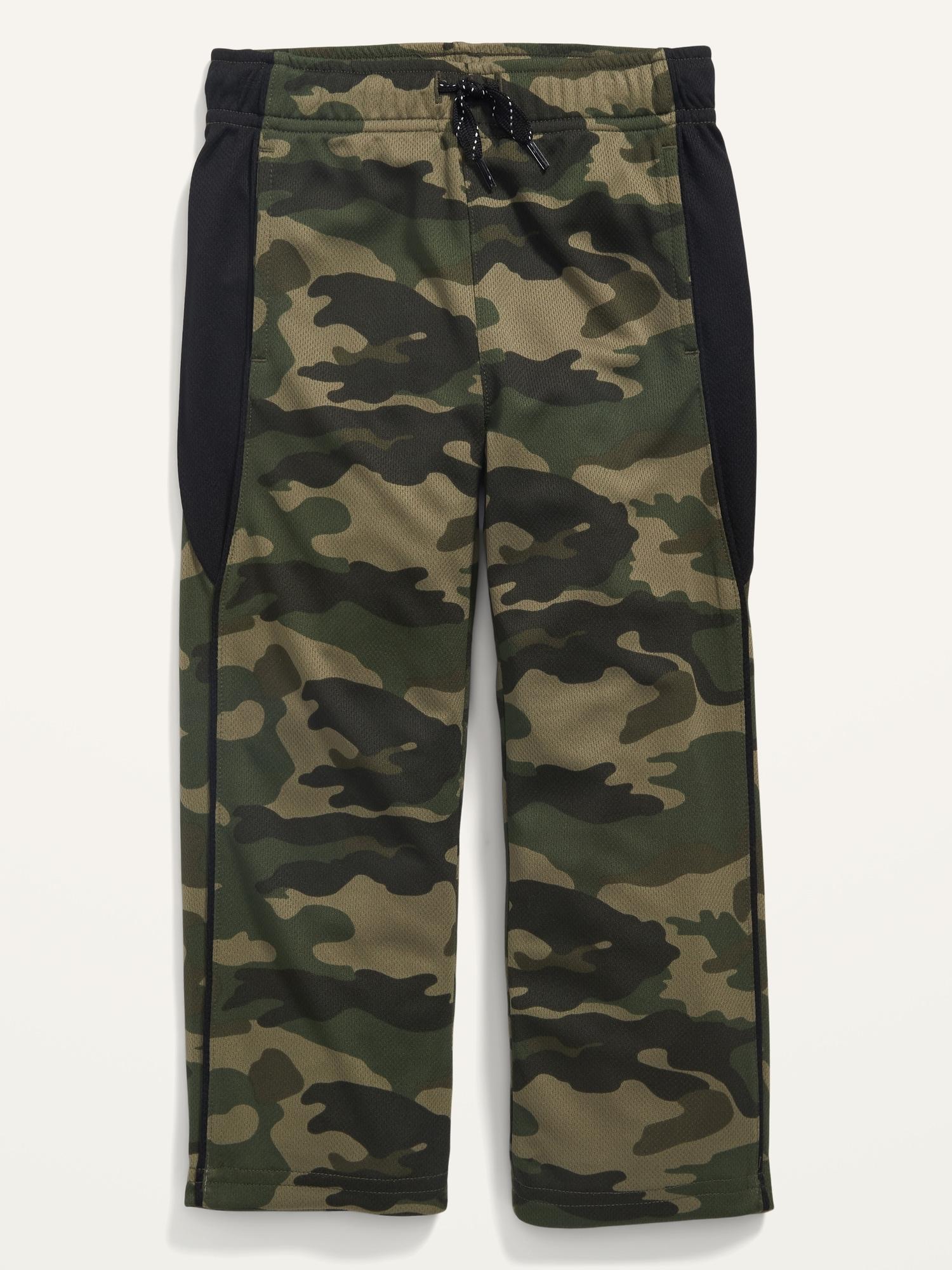 Old Navy Toddler Boys Drawstring Mesh Performance Pants (Camo) $4.50, Raglan-Sleeve Tee $3.73, Karate Rib-Waist Twill Shorts $6 + Free store pickup