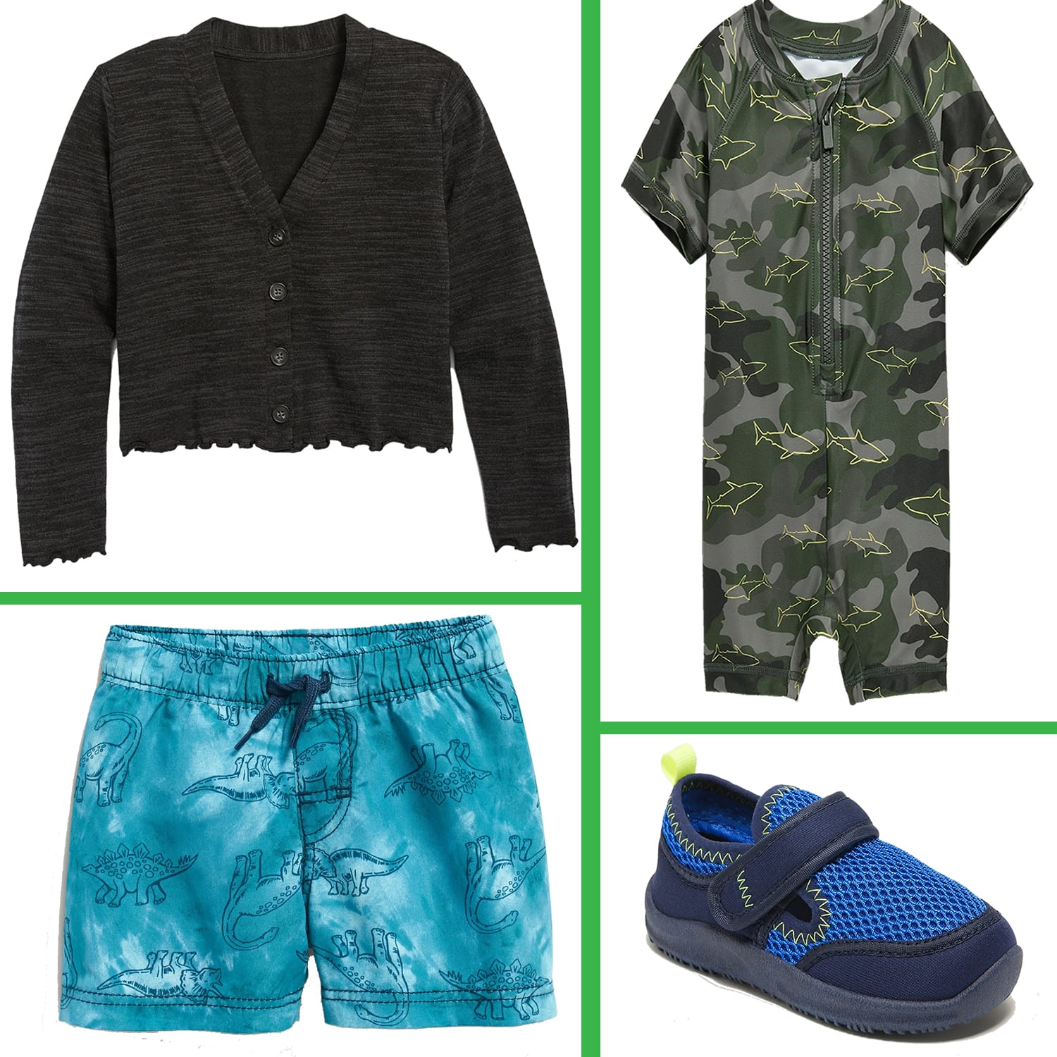 Old Navy Girls' Button-Front Cardigan $6, Baby Swim from $3.75 |Toddler Mesh Water Shoes $5.75, Glitter-Jelly Flats $3.75, Toddler Girls Uniform Polo $3 & MORE + Store Pickup