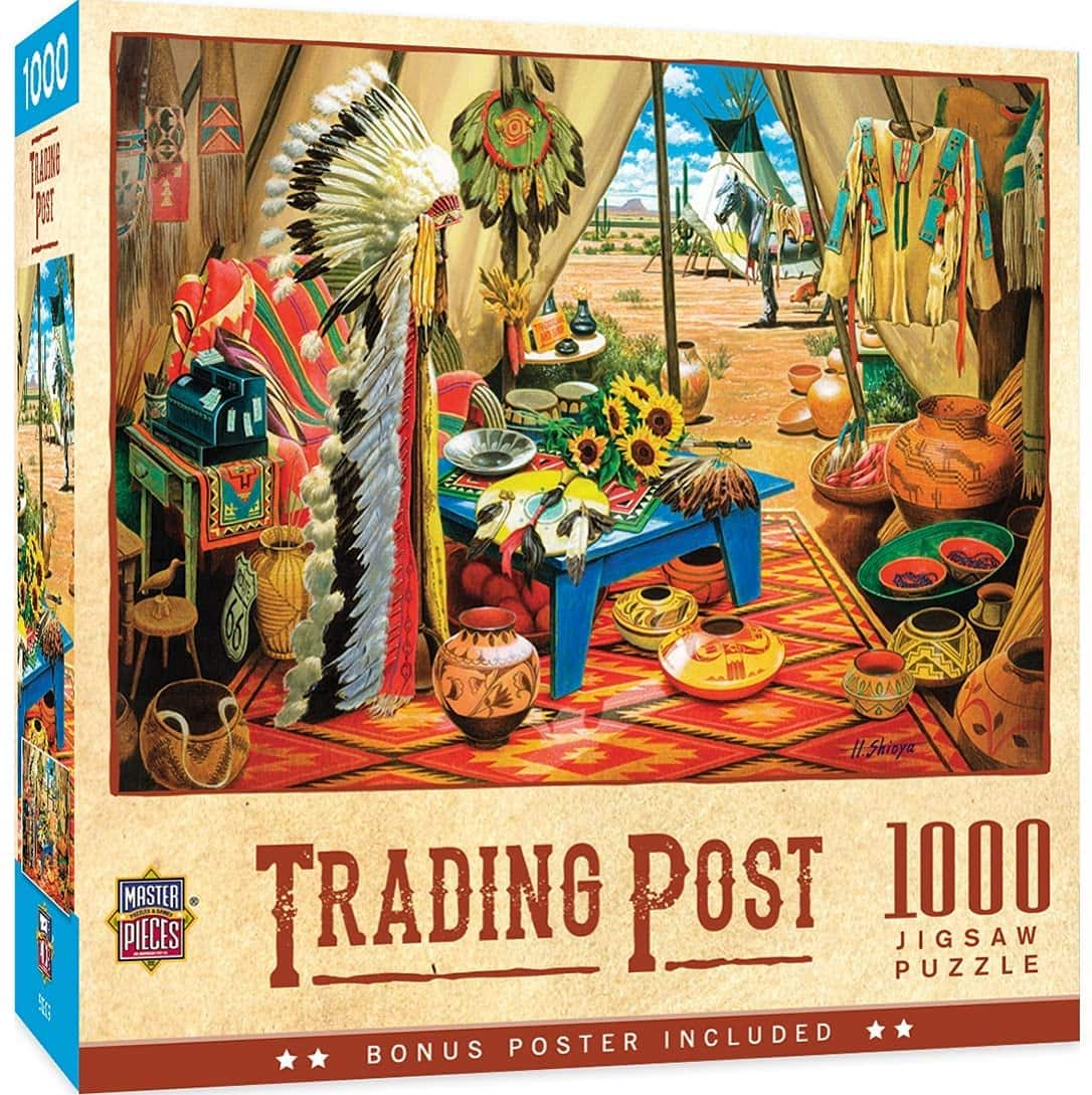 MasterPieces 1000 Pc Tribal Spirit - Trading Post Jigsaw Puzzle $7.49 + FS w/ Prime