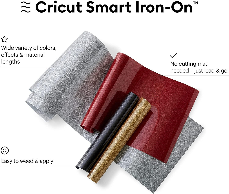 "Cricut 3' x 13"" Smart Iron-On Vinyl Glitter for Explore 3/Maker 3: White or Gold $7.50 + FS w/ Prime / Free Store Pickup at Target"