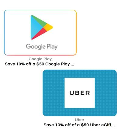 $50 Uber or Google Play Gift Card (Email Delivery) - Slickdeals net