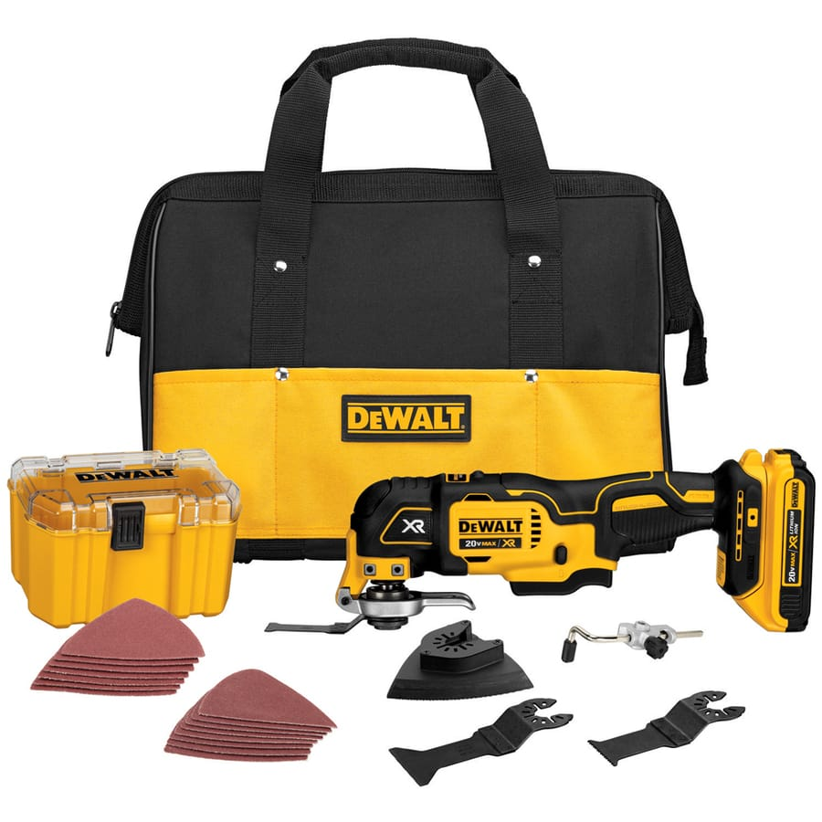 DEWALT XR 20V Brushless Cordless Oscillating Tool, 28 Pc w/ Battery,Charger,Bag: $129 or [lower $109 with coupon YMMV] at Lowe's