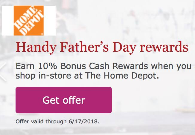 (Targeted) Wells Fargo Go Far Rewards: Earn 10% or more cashback on Home Depot (In Store) Purchase