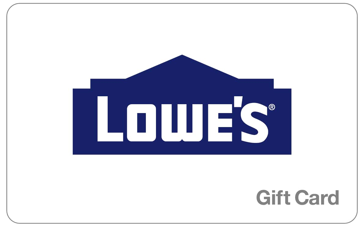 $200 Lowe's Gift Card for $180 (Paypal Digital Gifts)