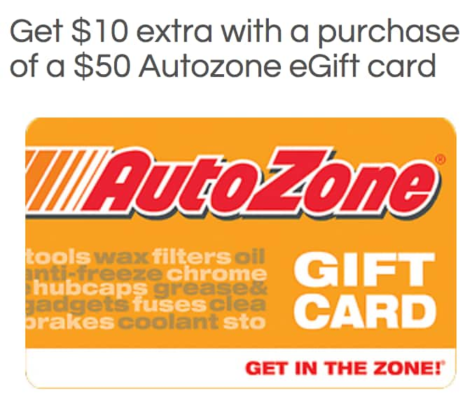 $60 Autozone Gift Card for $50 (Electronic Delivery) + Earn 4x Kroger Fuel Points at kroger.com
