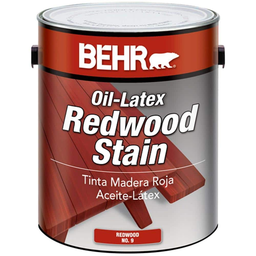 Redwood Solid Color Oil Latex Exterior Wood Stain Free After 10 Rebate 7 5 To 9 18 At Home Depot