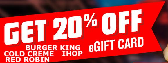 Kroger.com: 20% off IHOP / IHOB, Burger King, Cold Stone Creamery, Red Robin e-gift cards