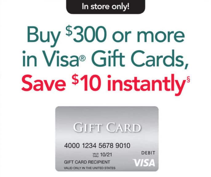 Office Depot/OfficeMax (in-store only): Save $10 instantly wyb $300 or more in Visa® Gift Cards, 7/29 - 8/4