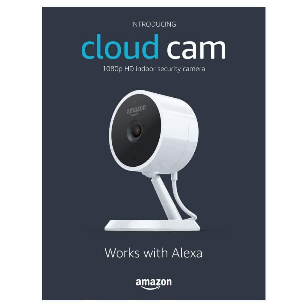 Amazon Cloud Cam Indoor Security Camera w/ Alexa - White: $59.99 at Best Buy